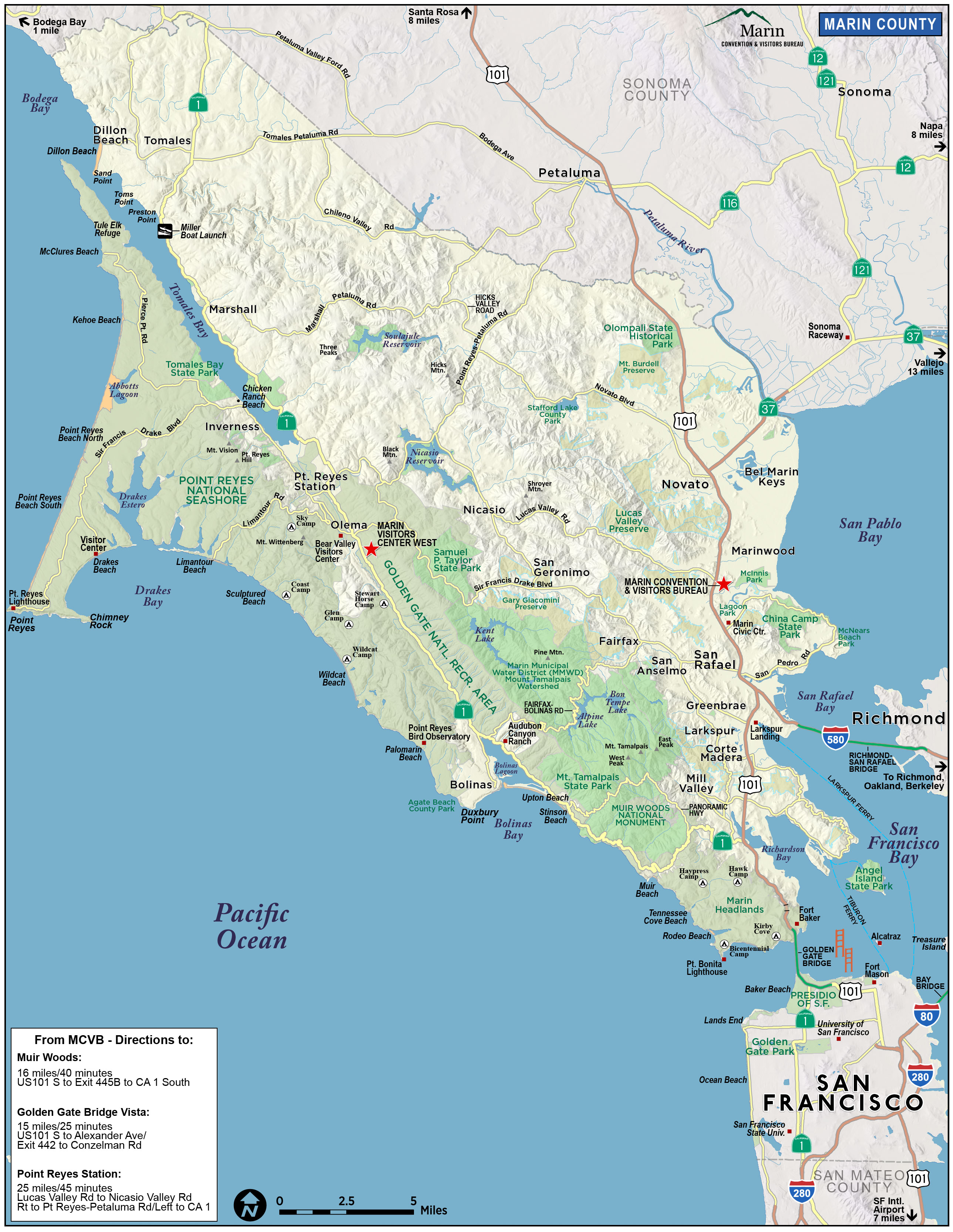 Map of Marin Directions Maps Transportation Marin County