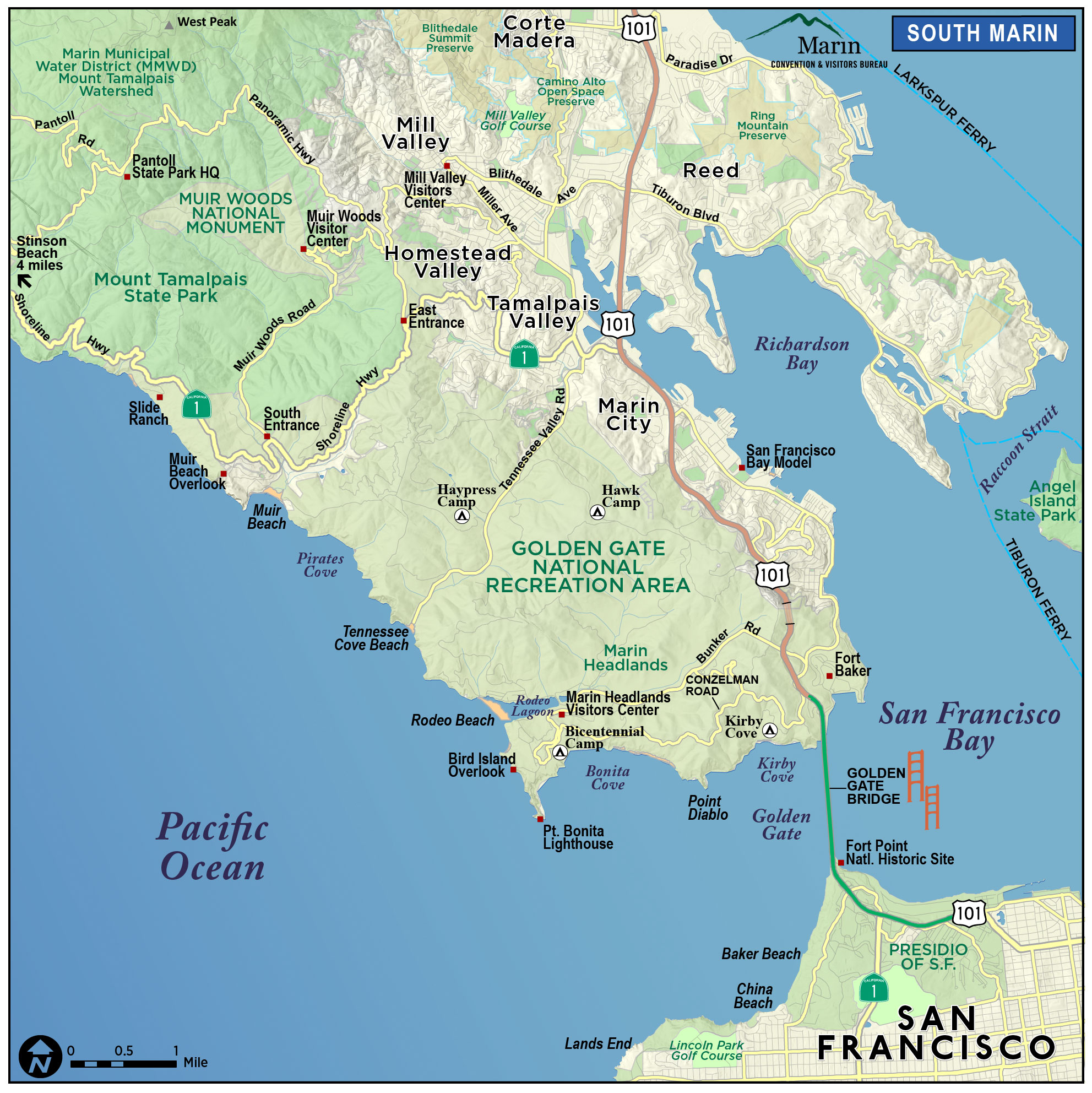 Map of Marin & Directions   Maps & Transportation   Marin County