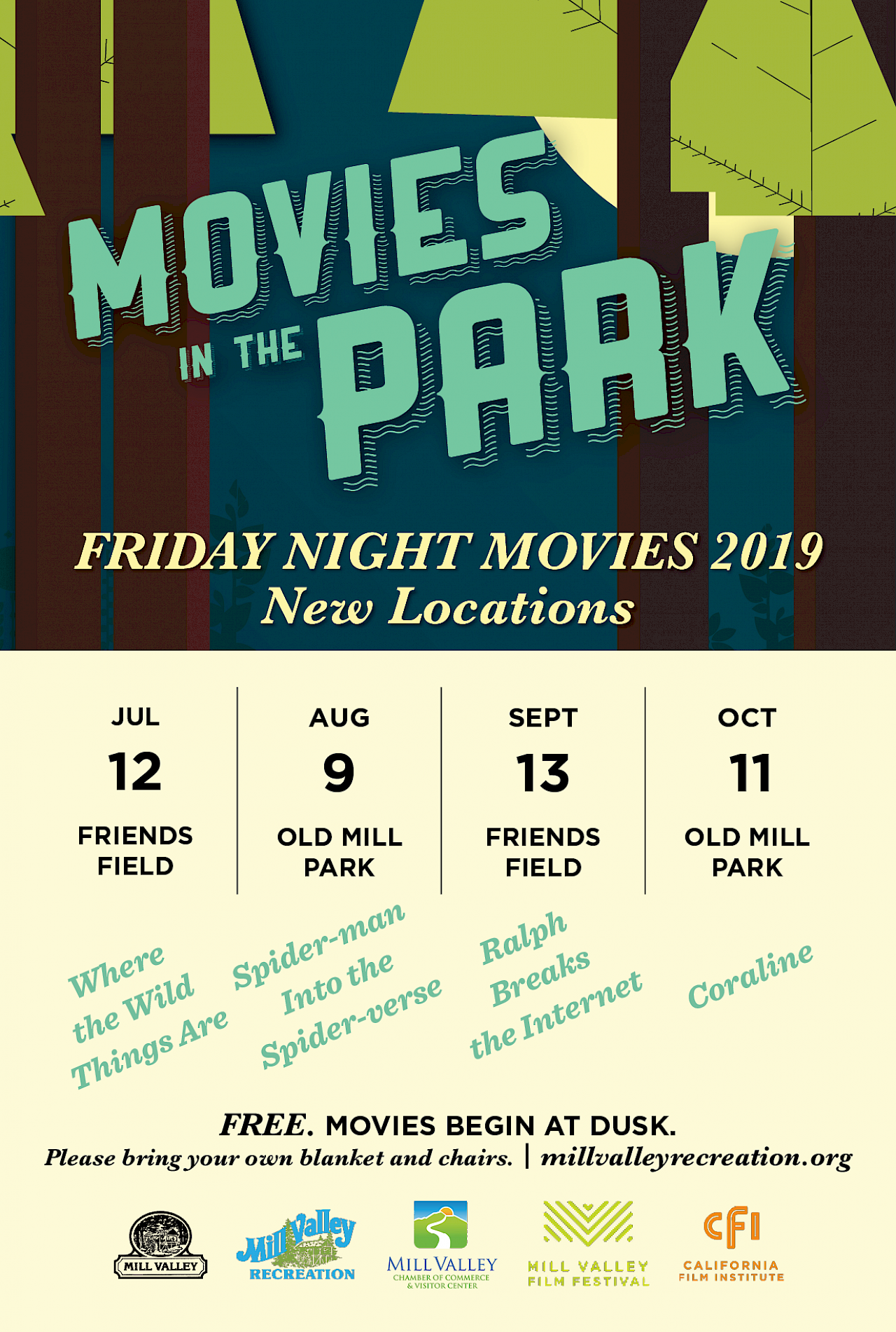 Movies In The Park Coraline At Old Mill Park October 2019 Marin Convention Visitors Bureau