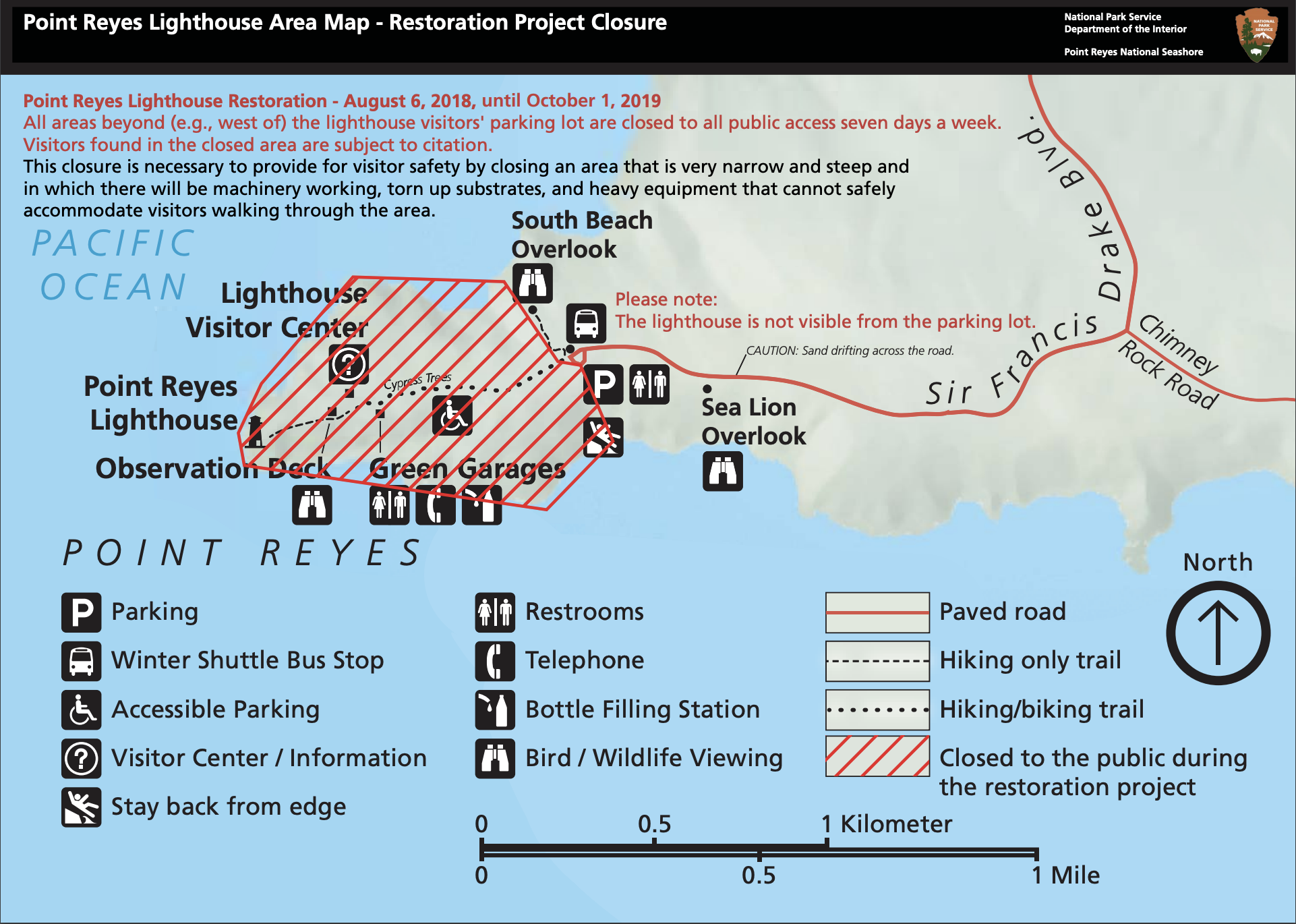 Road Closures and Park Updates - Highlights and Muir Woods